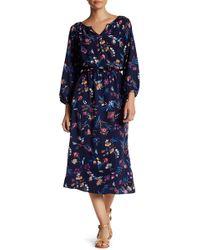 Fraiche By J - Ashley Printed Peasant Dress - Lyst