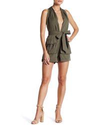Dress Forum - Plunge Neck Romper - Lyst