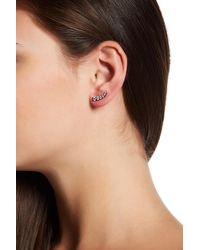 Native Gem Sterling Silver Fireworks Cz Ear Crawlers - Multicolor