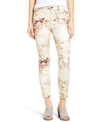 Jen7 - Floral Print Stretch Ankle Skinny Jeans (vintage Garden) - Lyst