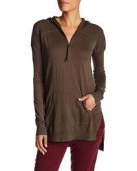 L.A.M.B. - Silk Blend Hooded Pullover - Lyst