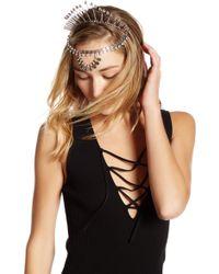 Noir Jewelry - Crystal Crown & Chain Headband - Lyst