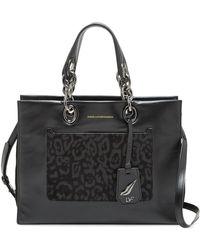 Diane von Furstenberg - Sutra Burnout Leopard Calf Hair Leather Shopper - Lyst