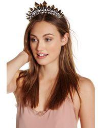 Noir Jewelry - Glitzy Crystal Crown Headband - Lyst