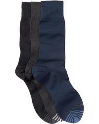 Hook + Albert - Solid Crew Socks - Pack Of 3 - Lyst