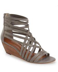 Hinge | Neta Leather Wedge Sandal | Lyst