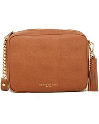 Kenneth Cole - Dover Street Leather Crossbody - Lyst
