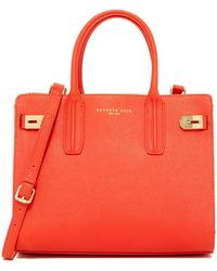 Kenneth Cole - Christie Leather Street Satchel - Lyst