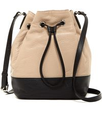 Kenneth Cole - Nevins Drawstring Leather Bucket Bag - Lyst