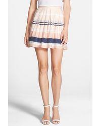Chelsea28 Nordstrom - Pleated Stripe Skirt - Lyst