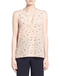 Trouvé - V-neck Sleeveless Silk Top - Lyst
