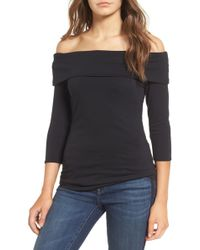 Hinge - Off The Shoulder Stretch Jersey Top - Lyst