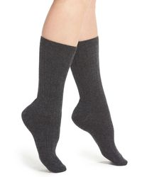 Halogen - Cashmere Blend Crew Socks - Lyst