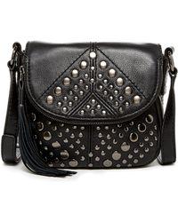 Isabella Fiore Bellmore Leather Crossbody - Black