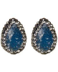 Native Gem - Sterling Silver Ilume Druzy Stud Earrings - Lyst