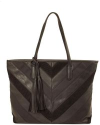 Imoshion - V Patch Suede Tote - Lyst