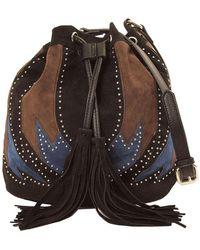 Imoshion - Embellished Stud Fringe Drawstring Shoulder Bag - Lyst