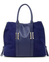 Ivanka Trump - Hudson Large Leather & Suede Satchel - Lyst