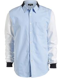 Izzue - Terry Sleeve Chambray Shirt (men) - Lyst