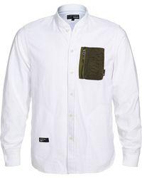 Izzue - Rib Knit Collar Shirt (men) - Lyst