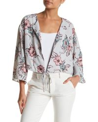 Sugarlips Lost In Floral Jacket - Gray