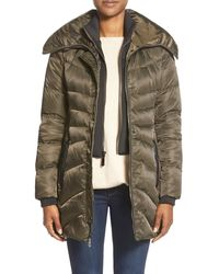 Vince Camuto - Down & Feather Fill Coat With Inset Vest - Lyst