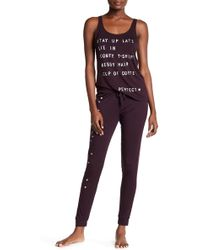 Junk Food - Heart Graphic Lounge Pant - Lyst