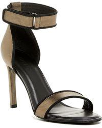 Atelje71 Jask Metallic Ankle Strap Heel - Black