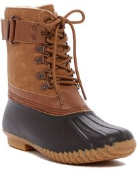 Jambu - Quebec Faux Fur Lined Weather-ready Duck Boot - Lyst