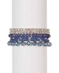Joe Fresh - Multi Row Beaded Stretch Bracelet - Lyst