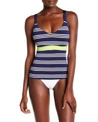 Jantzen & Jag Swimwear - Stripe Tankini Top (d-dd Cup) - Lyst
