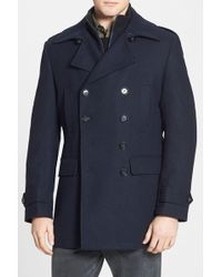 7 Diamonds - Glasgow Trim Fit Double Breasted Coat - Lyst