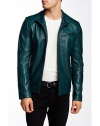 7 Diamonds - Norwell Genuine Leather Jacket - Lyst