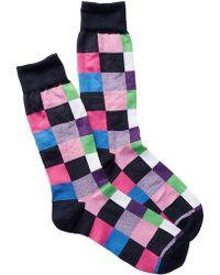 Jared Lang - Large Boxes Crew Socks - Lyst