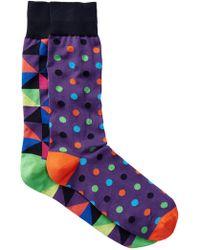 Jared Lang - Medium Polka Dot Crew Socks - Pack Of 2 - Lyst