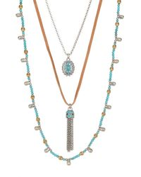 Lucky Brand - Multi-strand Convertible Necklace - Lyst
