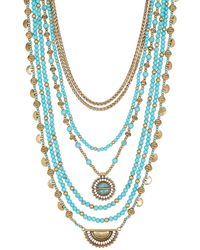 Lucky Brand - Turquoise Stone Major Necklace - Lyst