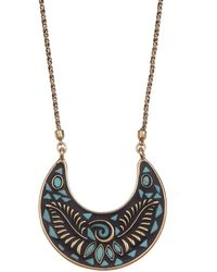 Lucky Brand - Reversible Mosaic Pendant Necklace - Lyst