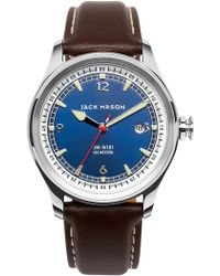 Jack Mason Brand - Men's Brand Nautical Italian Leather Strap 42mm Watch - Lyst