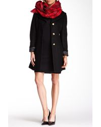 Jessica Simpson - Boucle Notch Collar Wool Blend Coat - Lyst