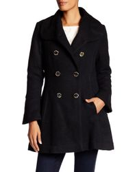 Jessica Simpson - Long Sleeve Double Breasted Coat - Lyst
