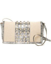 Big Buddha - Jssonni Studded Convertible Clutch - Lyst