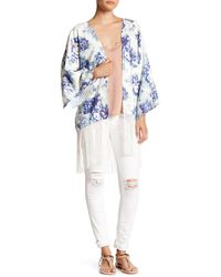 Ark & Co. - Fringed Floral Kimono - Lyst