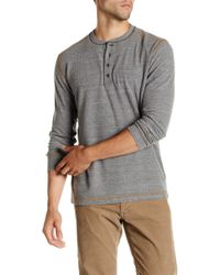 Agave - Herbert Long Sleeve Thermal Henley - Lyst
