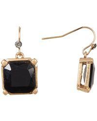 Kenneth Cole | Cushion Cut Stone Drop Earrings | Lyst