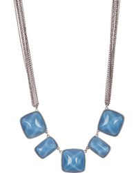 Kenneth Cole   Blue Stone Frontal Necklace   Lyst