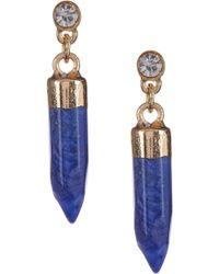 Kenneth Cole | Blue Bullet Drop Earrings | Lyst