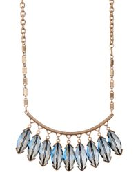 Kenneth Cole   Blue Marquise Frontal Necklace   Lyst