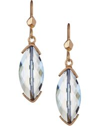 Kenneth Cole | Blue Marquise Drop Earrings | Lyst