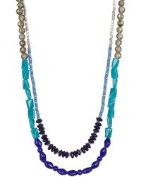 Kenneth Cole - Two-row Multi Bead Long Necklace - Lyst
